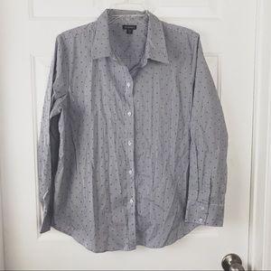 George Stripe Polka Dot Buttoned Down Shirt Sz XL